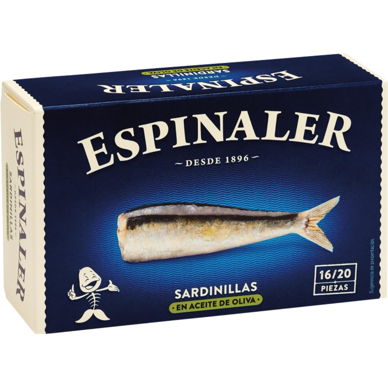 Espinaler-sardinetes en oli d'oliva rr-125 16/20
