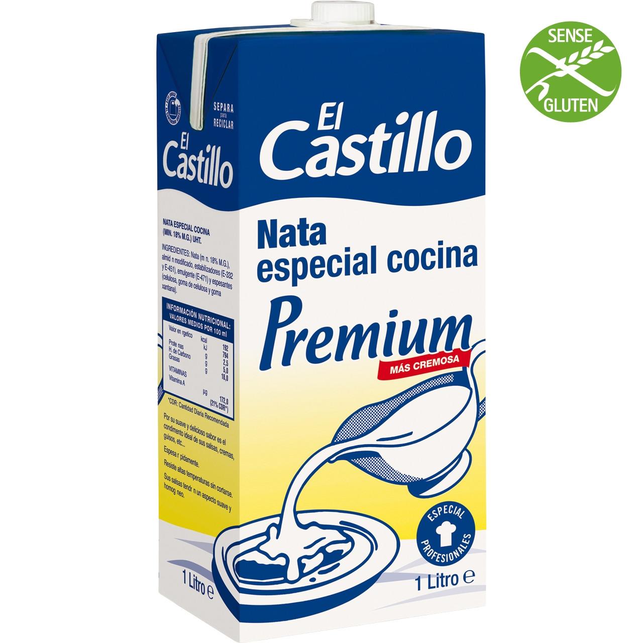 Nata Castillo cuina 1l bric 18% materia grassa