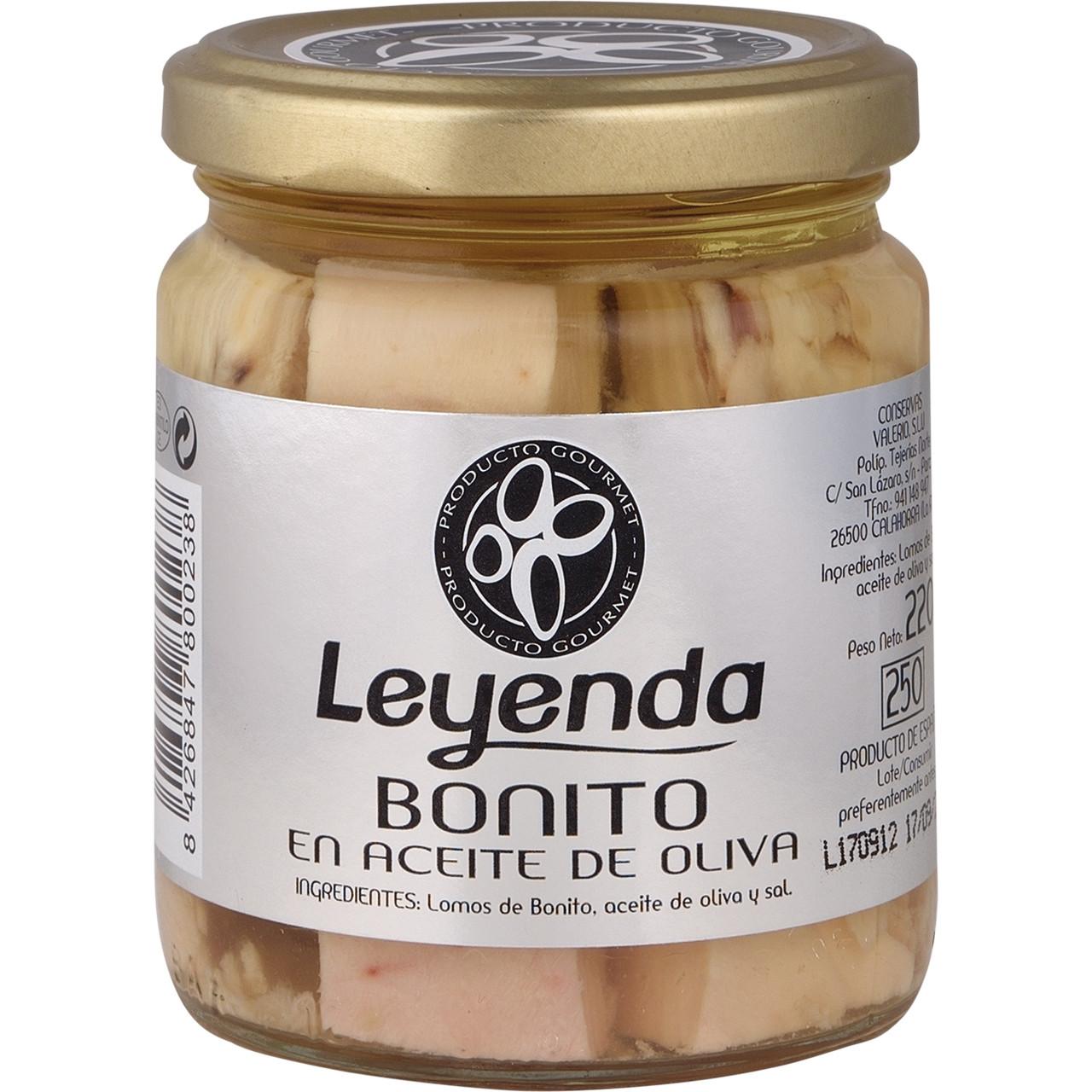 Bonitol en oli d'oliva Leyenda pot vidre
