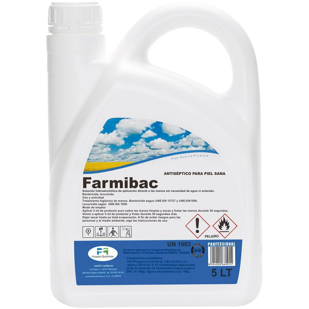 Farmibac solució hidroalcohòlica per a mans