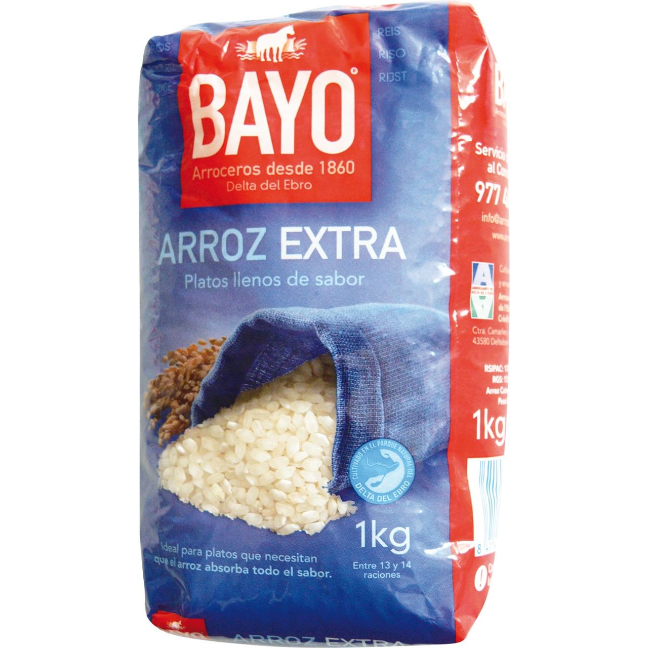 Arròs extra 1kg. Bayo
