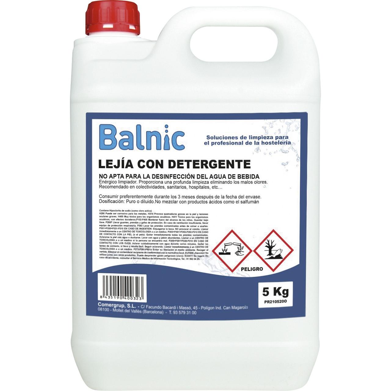 Balnic lleixiu amb detergent