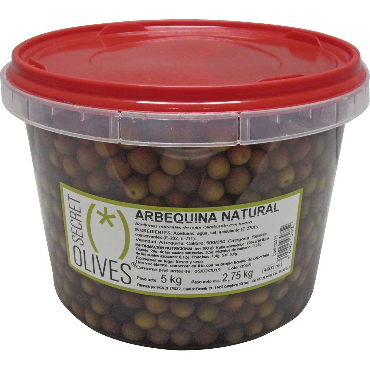 Oliva arbequina natural -Secret-