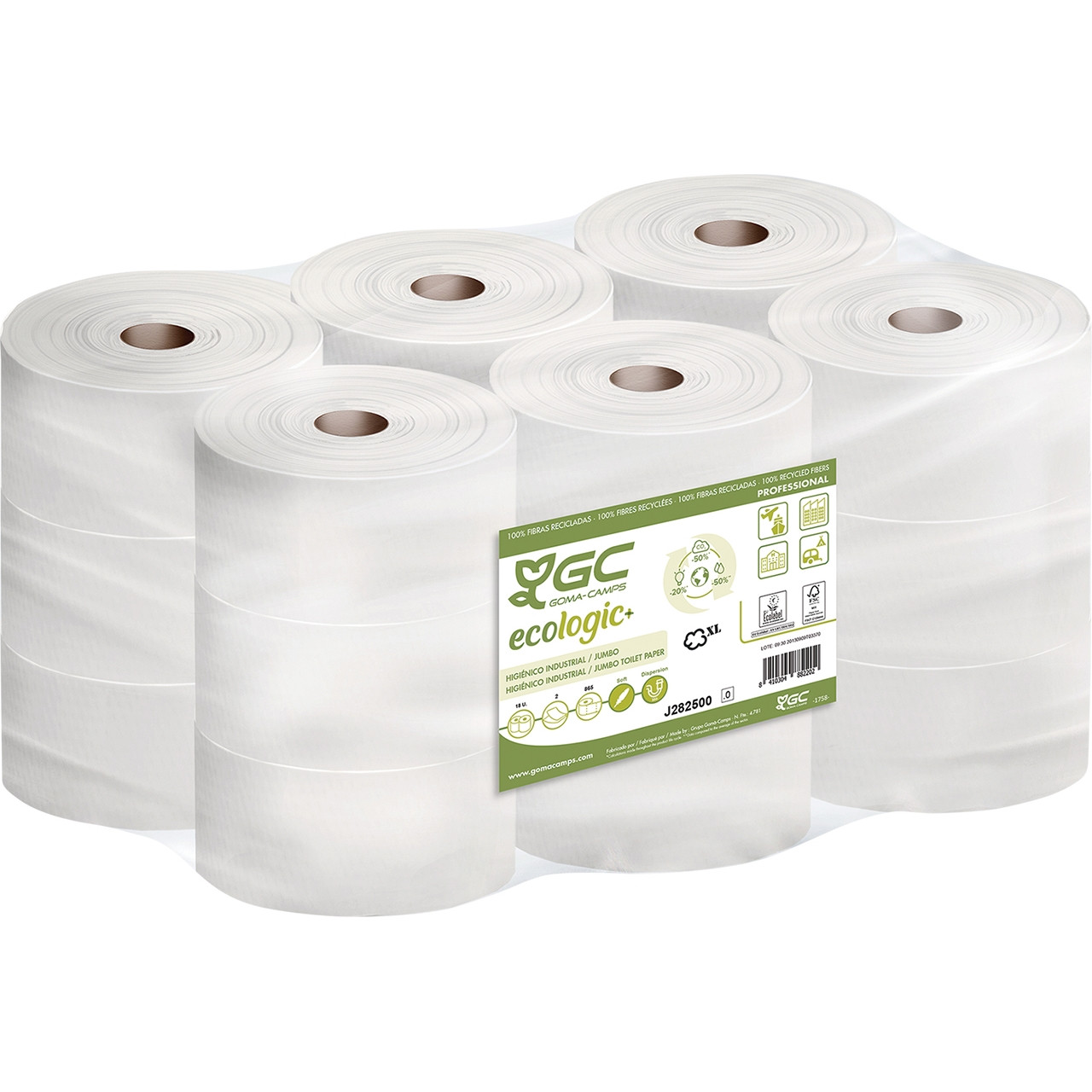 Higienic jumbo 2c.bl.gc eco (865 serveis)