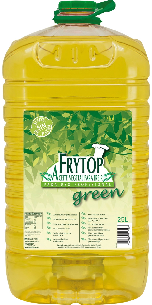Frytop green oli fregir