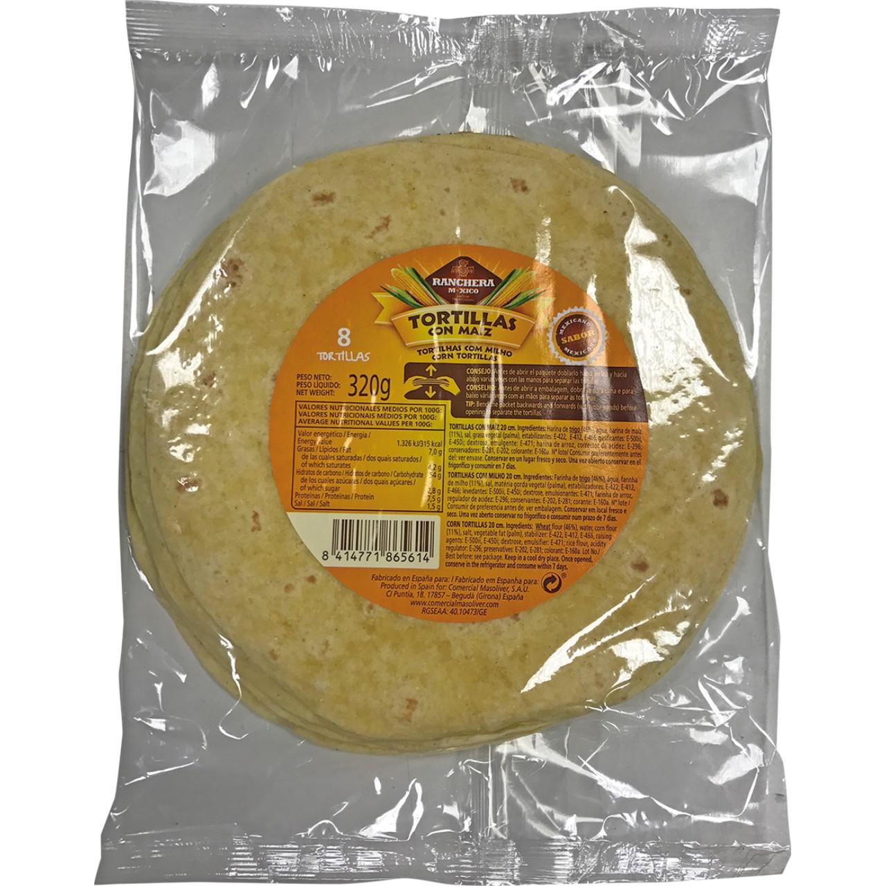 Ranchera m-xico tortilla 20 cm.