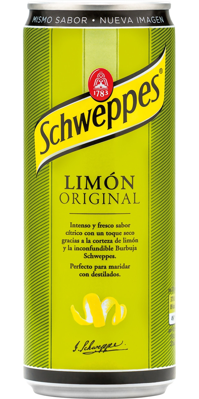 Llauna schweppes sleek llimona 24u