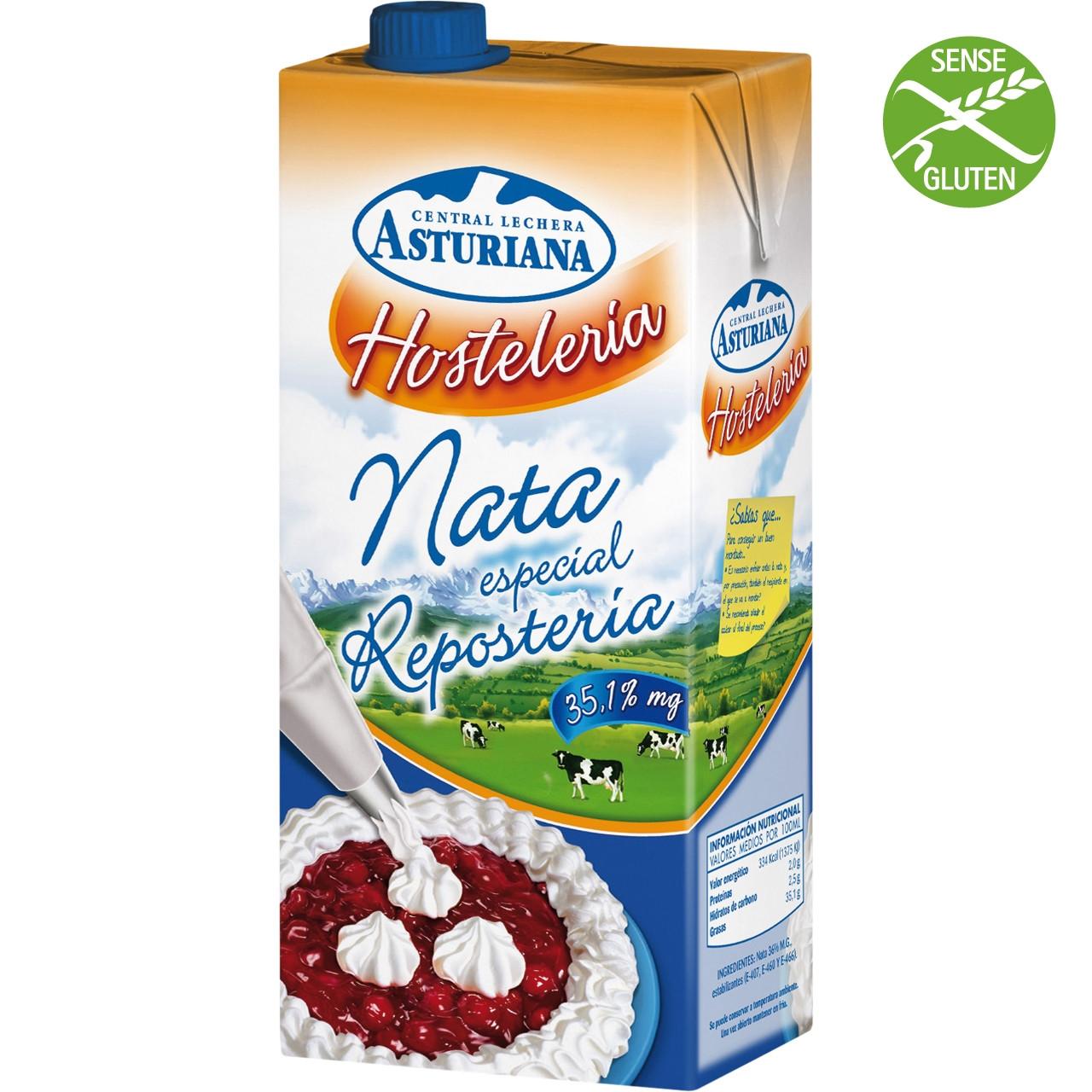 Nata Asturiana 35% especial pastisseria - 1l bric