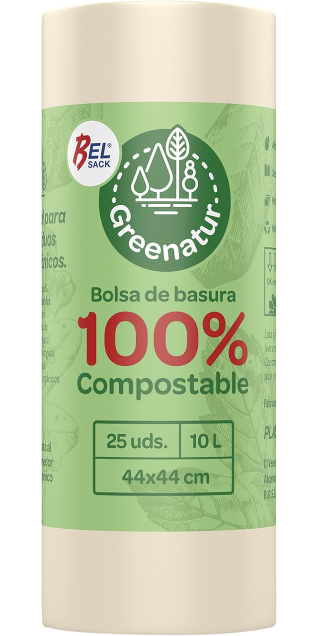 Belsack bosses d'escombr. beige 100%compost.g-60 44x44cm